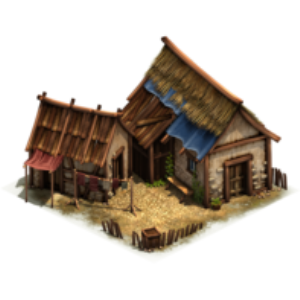 Постройка с соломенной крышей