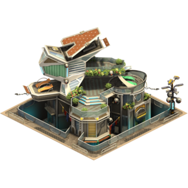 Высотный дом с террасой