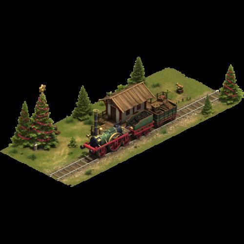 Зимний поезд — ур. 4