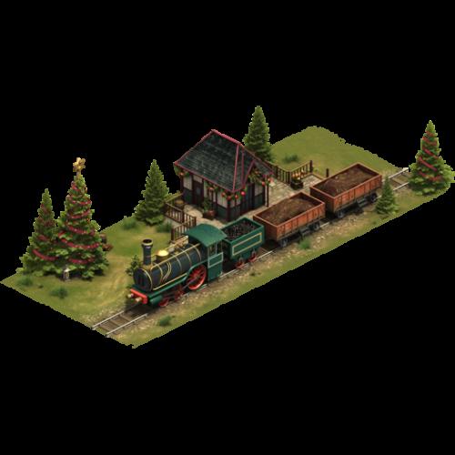 Зимний поезд — ур. 6
