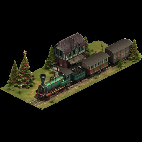 Зимний поезд — ур. 8