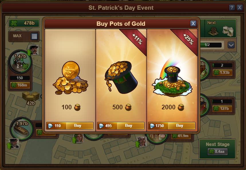 Покупка горшков с золотом за бриллианты