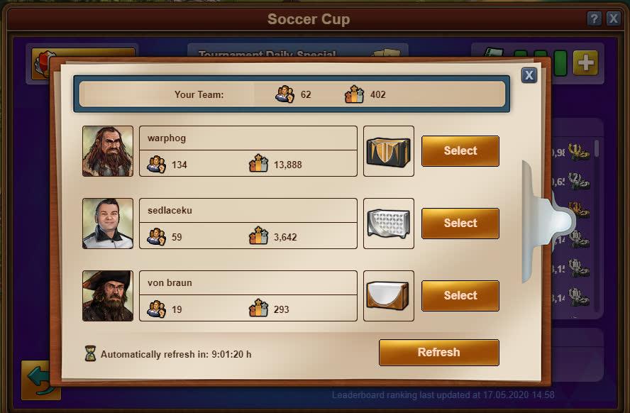Кубок FoE по футболу 2020 - Выбор сложности матча