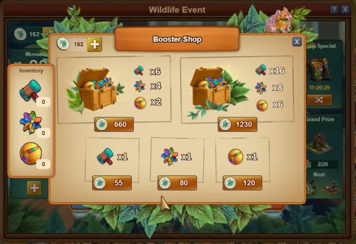 Магазин бонусов ивента дикой природы FoE